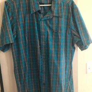 Oakley Men's Blue Button Down Shirt
